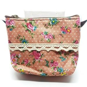Handbags - Pink floral girly coin purse card holder
